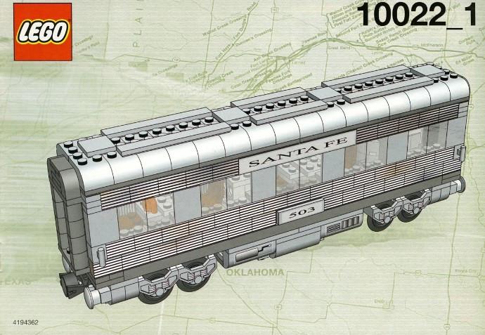 Instructions for #10022-1 Santa Fe Cars - Set II (dining, observation, or  sleeping car)