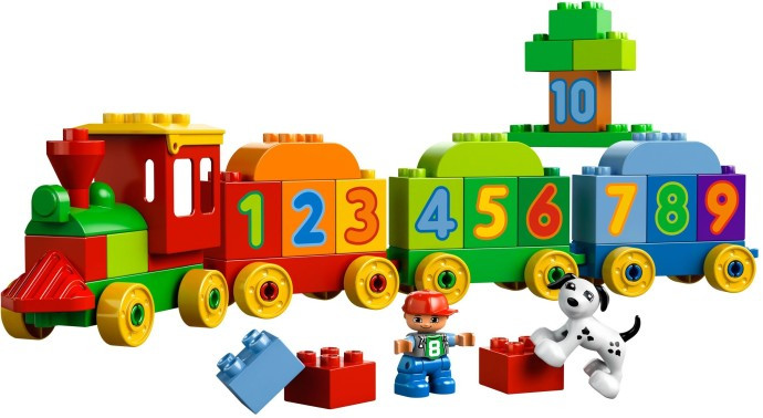 Lego 10558 number train set parts inventory and instructions.