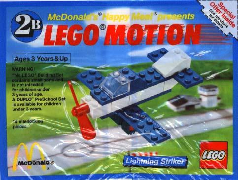 1643 1 Lego Motion 2b Lightning Striker Polybag Swooshable