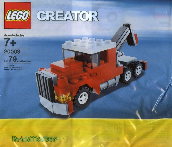 Instructions for #20008-1 Tow Truck polybag