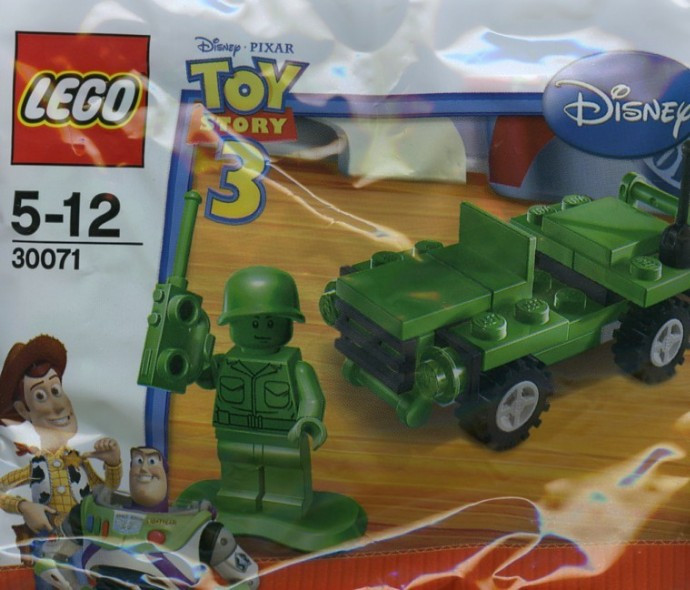30071 1 Army Jeep Polybag Swooshable