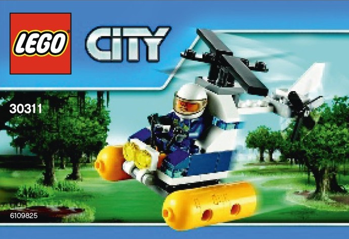 30311 1 Swamp Police Helicopter Polybag Swooshable