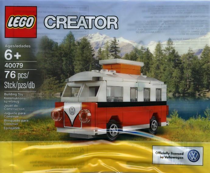 40079 1 Mini Volkswagen T1 Camper Van Vw Bus Polybag Swooshable
