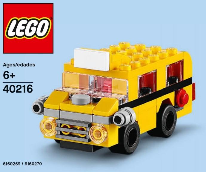 40216 1 Monthly Mini Model Build Set 2016 09 September School Bus