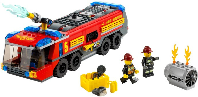 60061 1 Airport Fire Truck Swooshable