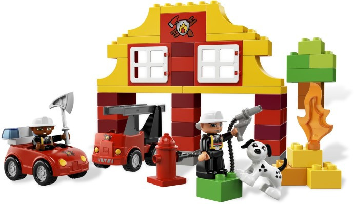 6138 1 My First Lego Duplo Fire Station Swooshable