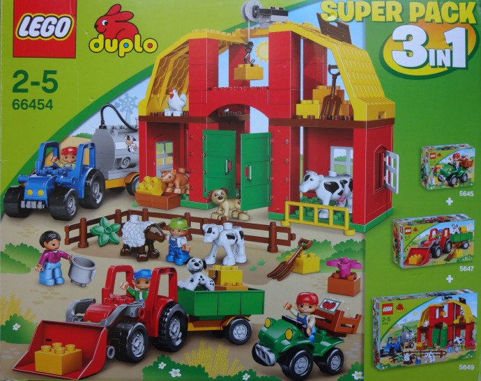 66454 1 Duplo Farm Super Pack 3 In 1 5645 5647 5649 Swooshable