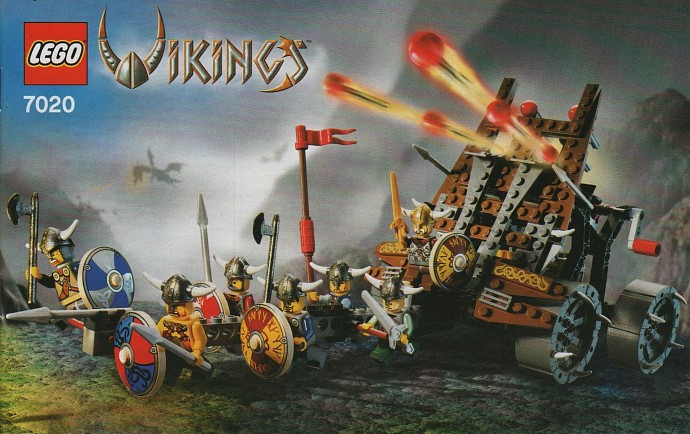 7020 1 Army Of Vikings With Heavy Artillery Wagon Swooshable