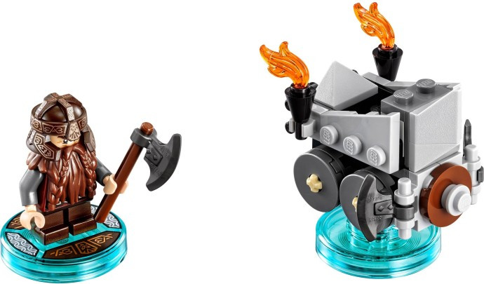71220 1 Fun Pack The Lord Of The Rings Gimli And Axe Chariot