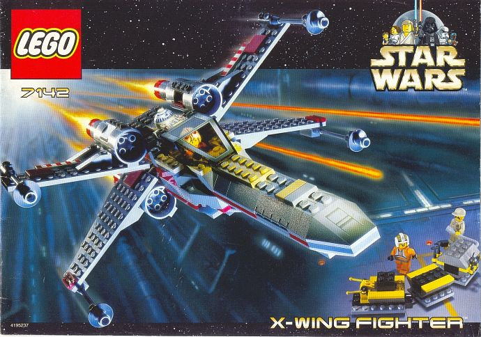 7142 1 X Wing Fighter Re Release Of 7140 Swooshable