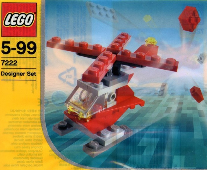 7222 1 Small Red Helicopter Polybag Swooshable