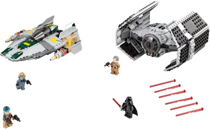 75150 1 Vaders Tie Advanced Vs A Wing Starfighter Swooshable