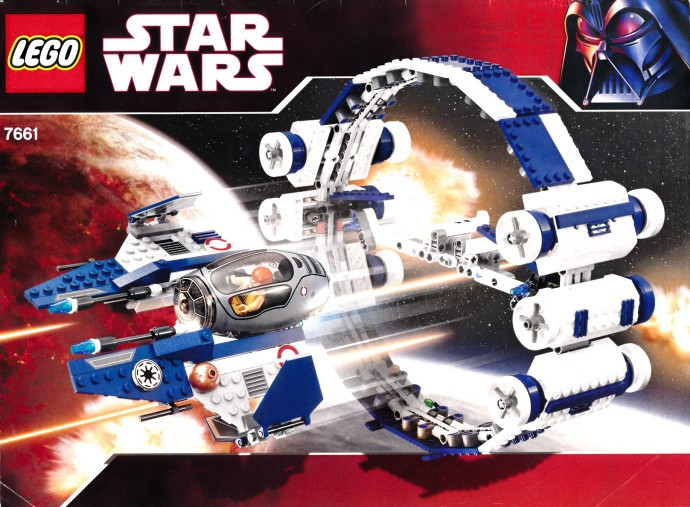 7661 1 Jedi Starfighter With Hyperdrive Booster Ring Swooshable