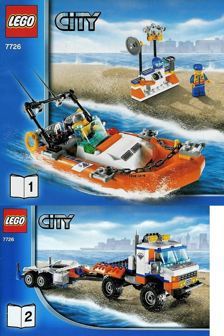 7726 1 Coast Guard Truck With Speed Boat Swooshable