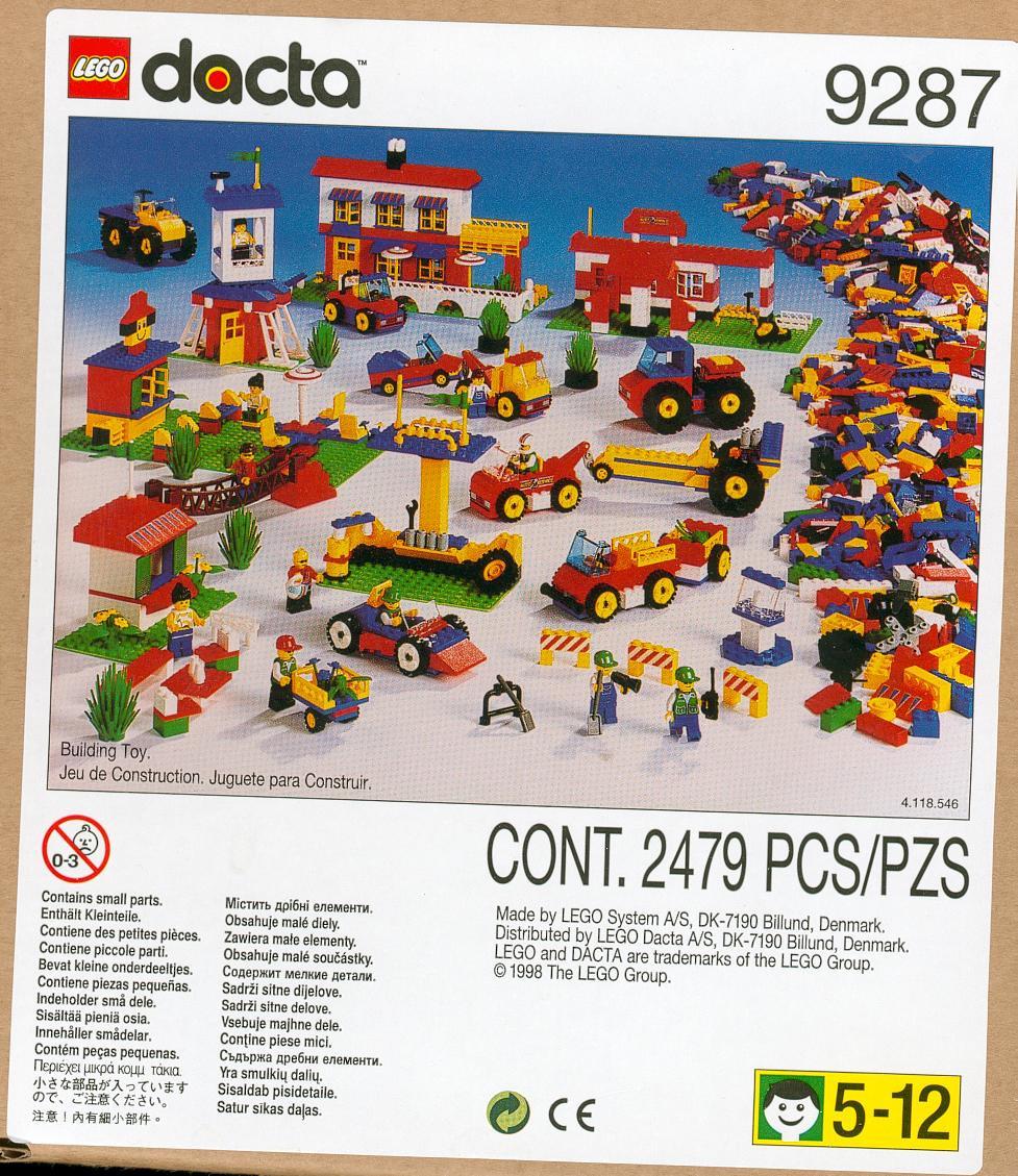 9287 1 Bonus Lego Basic Town Swooshable