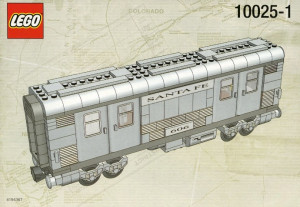 Santa Fe Cars - Set I (mail or baggage car)