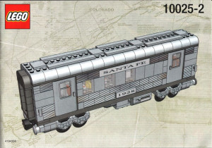 Santa Fe Cars Set I (mail car