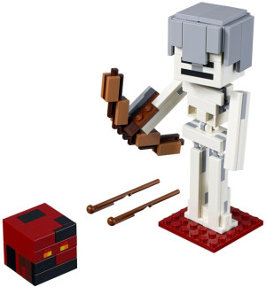 Minecraft™ Skeleton BigFig with Magma Cu