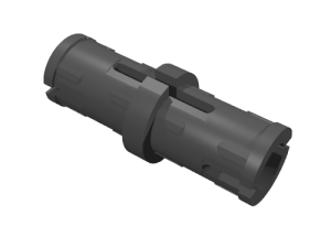 Connector peg w. friction