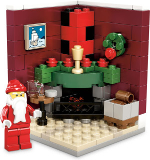 Fire Place Scene (Limited Edition 2011 Holiday Set (2 of 2))