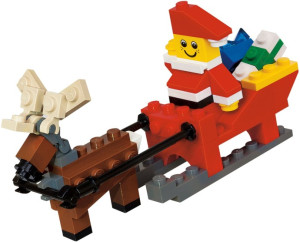 Santa with Sleigh Building Set polybag