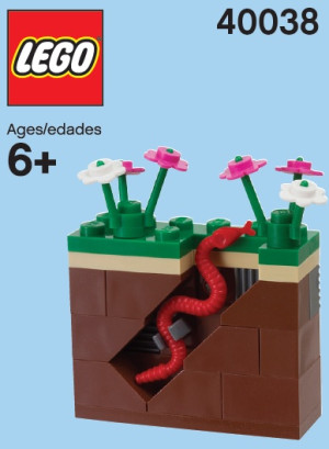 Monthly Mini Model Build Set - 2012 03 March, Garden and Earthworm