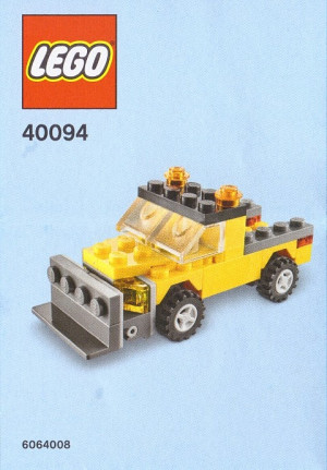 Monthly Mini Model Build Set - 2014 01 January, Snowplow