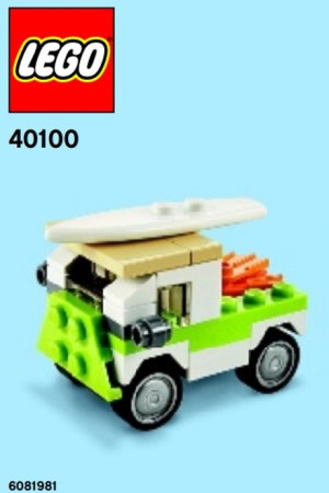 Monthly Mini Model Build Set - 2014 07 July, Beach Van