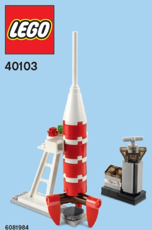 Monthly Mini Model Build Set - 2014 11 November, Rocket