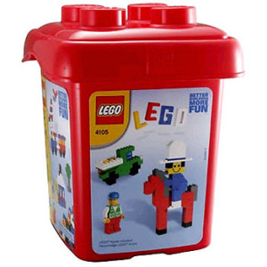 487 Piece Red Bucket