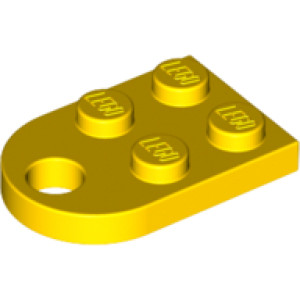 2 x LEGO Yellow Coupling Plate with Hole NEW Size: 2 x 2