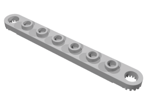 Technic Plate 1 x 8 with Holes