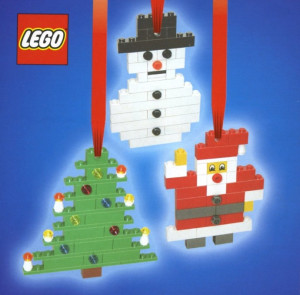 Three Christmas Decorations - Santa, Tree and Snowman
