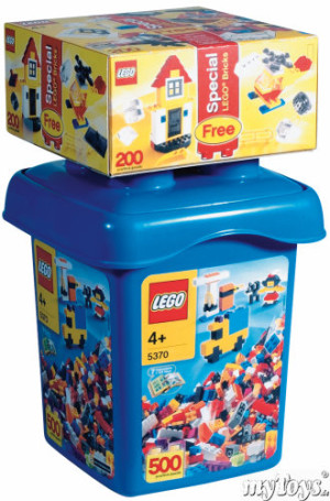 Large Make and Create Bucket with Special LEGO Bonus Bricks
