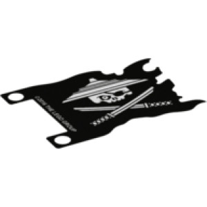 Sky Pirate Flag, 56Mm X 40Mm