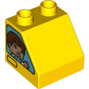 Duplo Roof Tile 2X2X1 1/2 'No. 10'