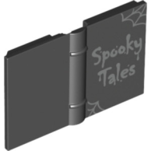 Book 2 x 3 with Spider Webs and 'Spooky Tales' Print