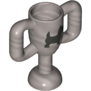Utensil Trophy Cup Small with Silver Terrier Dog Pattern