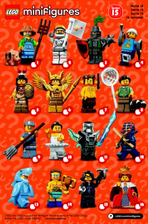 Minifigure Series 15 Complete Random Set of 1 Minifigure