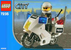 Police Motorcycle - Blue Sticker Version