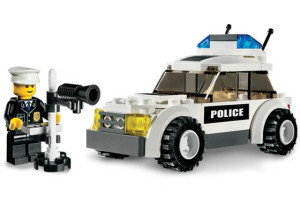 Police Car - Blue Sticker Version