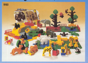 Duplo Safari Park - 92 elements, 6 act. cards