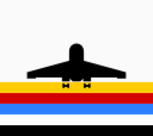 Classic airport vector graphic