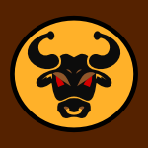 Knights Kingdom bull vector graphic
