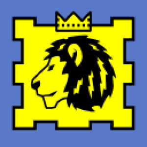 Knights Kingdom lion vector graphic