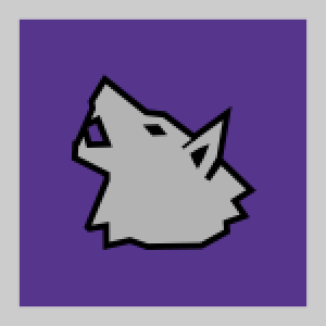 Knights Kingdom wolf vector graphic