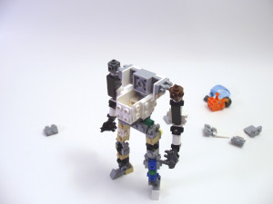 Small posable mech frame with room for minifig