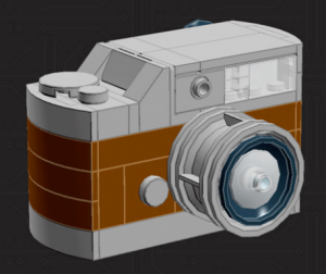 Brown mini camera