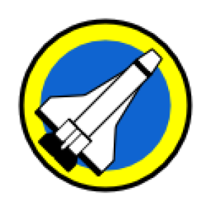 Space port vector graphic