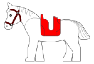 Horse template vector graphic